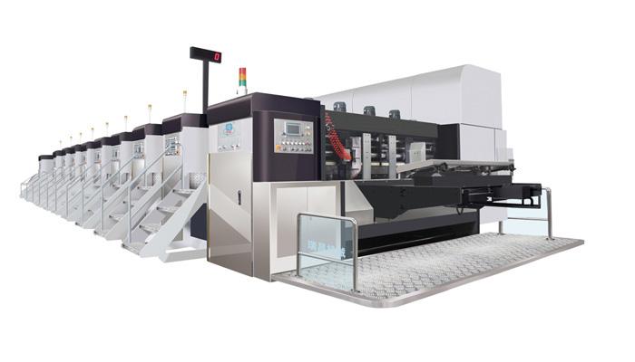 HG上印固定式自动高速印刷开槽模切机
