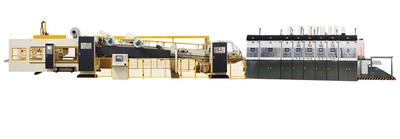 HS 吸附上印式 自动高速印刷折叠粘箱机联动线